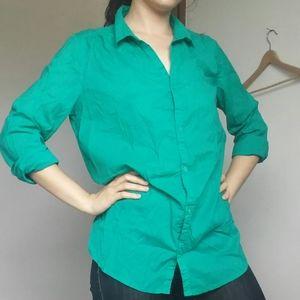 🎀2/$12🎀 Seafoam Green 100% Cotton Blouse
